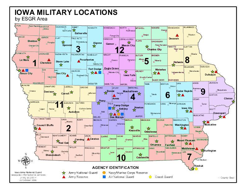 iowa national guard units locations